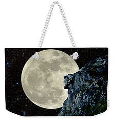 Weekender Tote Bag featuring the photograph Old Man / Man In The Moon by Larry Landolfi