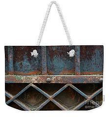 Weekender Tote Bag featuring the photograph Old Metal Gate Detail by Elena Elisseeva