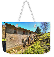 Weekender Tote Bag featuring the photograph Old Mill - Antico Mulino by Enrico Pelos