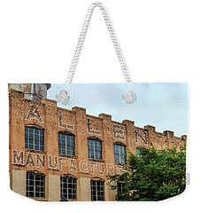 Weekender Tote Bag featuring the photograph Old Mill Building In Buford by Doug Camara