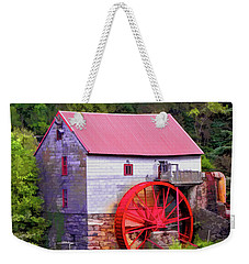 Old Mill Of Guilford Painted Square Weekender Tote Bag by Sandi OReilly