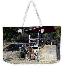 Weekender Tote Bag featuring the photograph Old Mill Of Guilford Pumphouse by Sandi OReilly