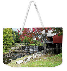 Old Mill - Weston, Vermont Weekender Tote Bag by Joseph Hendrix