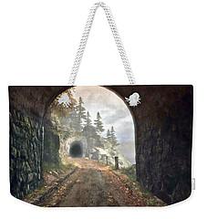 Weekender Tote Bag featuring the digital art Old Mine Road by Kai Saarto
