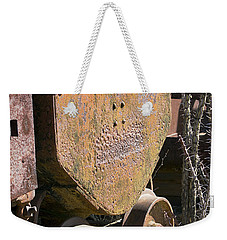 Weekender Tote Bag featuring the photograph Old Mining Car by Phyllis Denton
