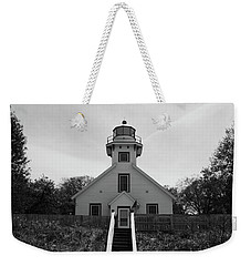 Old Mission Point Lighthouse Weekender Tote Bag by Joann Copeland-Paul