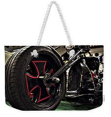 Old Motorbike Weekender Tote Bag by Tamara Sushko