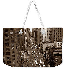 Old New York Photo - 10th Avenue Traffic Weekender Tote Bag