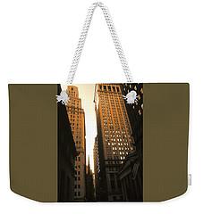 Old New York Wall Street Weekender Tote Bag