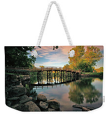 Old North Bridge Weekender Tote Bag by Rick Berk