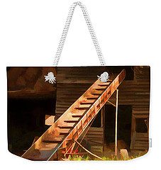 Old North Carolina Barn And Rusty Equipment   Weekender Tote Bag by Wilma Birdwell