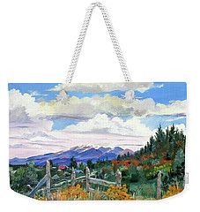 Old North Fence-in Colorado Weekender Tote Bag