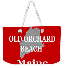 Weekender Tote Bag featuring the photograph Old Orchard Beach Maine State City And Town Pride  by Keith Webber Jr