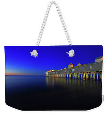 Old Orchard Beach Pier At Sunrise Weekender Tote Bag