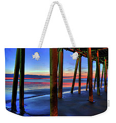 Weekender Tote Bag featuring the photograph Old Orchard Beach Pier -maine Coastal Art by Joann Vitali