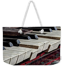 Weekender Tote Bag featuring the photograph Old Organ Keys by Michal Boubin
