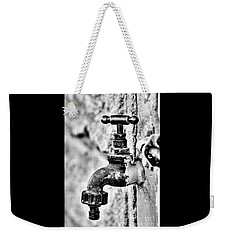 Old Outdoor Tap - Black And White Weekender Tote Bag