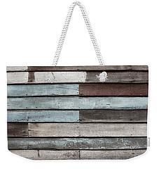 Old Pale Wood Wall Weekender Tote Bag