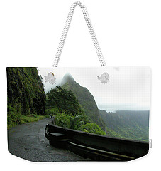 Weekender Tote Bag featuring the photograph Old Pali Road, Oahu, Hawaii by Mark Czerniec