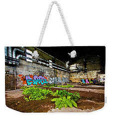 Weekender Tote Bag featuring the photograph Old Peters Factory 666 by Kevin Chippindall