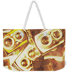 Old Photo Cameras Weekender Tote Bag