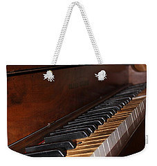 Weekender Tote Bag featuring the photograph Old Piano by Beth Vincent