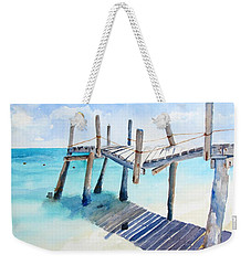 Old Pier On Playa Paraiso Weekender Tote Bag