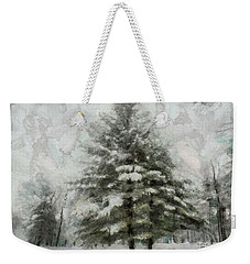 Weekender Tote Bag featuring the mixed media Old Piney by Trish Tritz