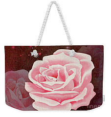 Weekender Tote Bag featuring the digital art Old Pink Rose by Mariella Wassing