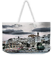 Old Port Mahon And Italian Sail Training Vessel Palinuro Hdr Weekender Tote Bag