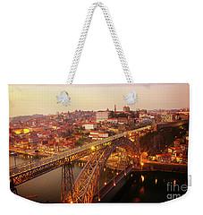 old Porto at  Pink Sunset, Portugal Weekender Tote Bag