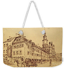 Old Poznan Drawing Weekender Tote Bag
