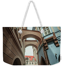 Weekender Tote Bag featuring the photograph Old Prague Architecture 1 by Jenny Rainbow