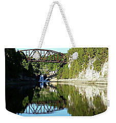 Old Railway Bridge Over The Winooski River Weekender Tote Bag