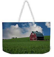 Old Red Barn In The Palouse Weekender Tote Bag by James Hammond