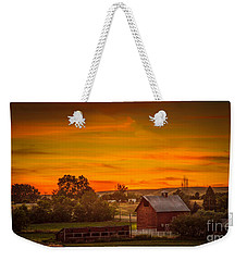 Old Red Barn Weekender Tote Bag by Robert Bales