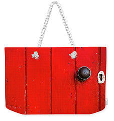 Old Red Door  Weekender Tote Bag