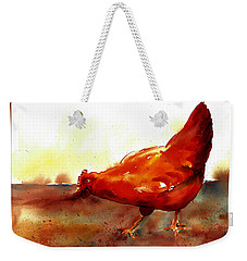 Picking With The Chickens Weekender Tote Bag