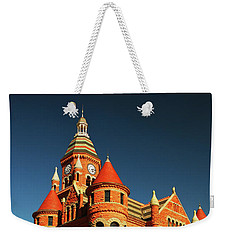 Weekender Tote Bag featuring the photograph Old Red by James Kirkikis