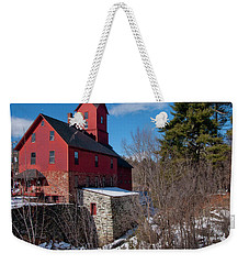 Weekender Tote Bag featuring the photograph Old Red Mill - Jericho, Vt. by Joann Vitali