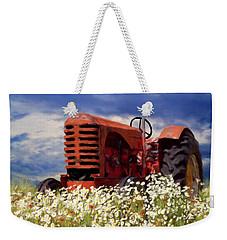 Old Red Tractor Weekender Tote Bag