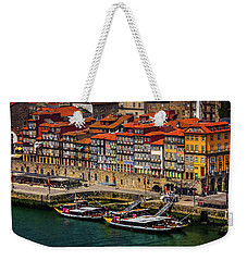 Weekender Tote Bag featuring the photograph Old Ribeira Porto  by Carol Japp
