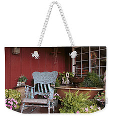 Weekender Tote Bag featuring the photograph Old Rockin' Chair by Susan Rissi Tregoning