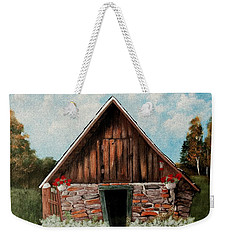Weekender Tote Bag featuring the painting Old Root House by Anastasiya Malakhova