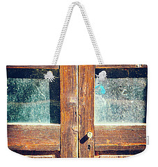 Weekender Tote Bag featuring the photograph Old Rotten Door by Silvia Ganora