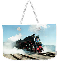 Old Russian Train On Bajkal Weekender Tote Bag by Tamara Sushko