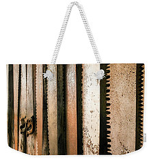 Retired Rusted Saws Weekender Tote Bag by Lexa Harpell
