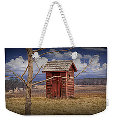 Old Rustic Wooden Outhouse In West Michigan Weekender Tote Bag
