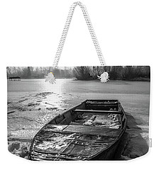 Old Rusty Boat Weekender Tote Bag by Davorin Mance