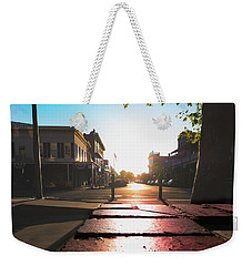 Weekender Tote Bag featuring the photograph Old Sacramento Smiles- by JD Mims